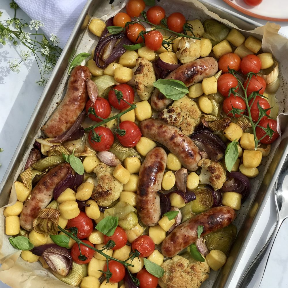 Sausage and Vegetable Gnocchi Traybake
