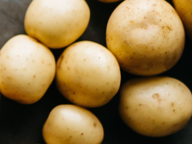 Baby Potatoes Close Up