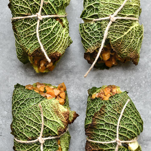 Savoy Cabbage Parcels