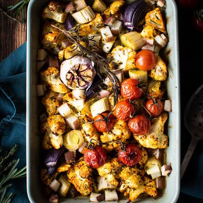 Roasted Cauliflower Tray Bake EDIT